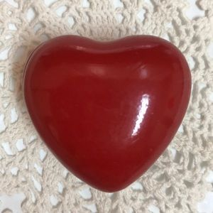 Small Red porcelain heart box